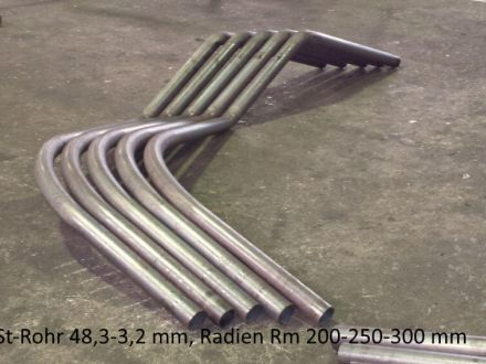 Rohrbiegerei CNC-Dornbiegen Bügel as St-Rohr 48,3 x 3,2 mm